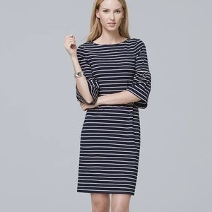 ❤Who what wear striped bell sleeves shift dress